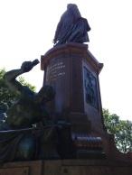 The back side of the Otto von Bismarck statue