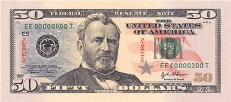 U.S. Grant 50 bill